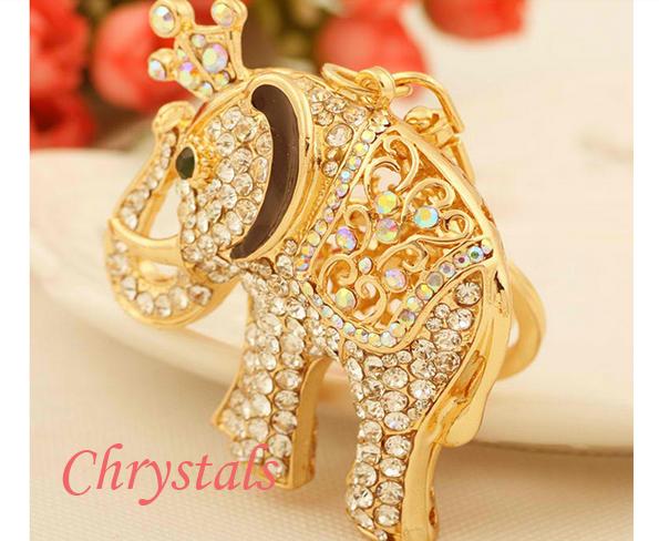 слон с кристали